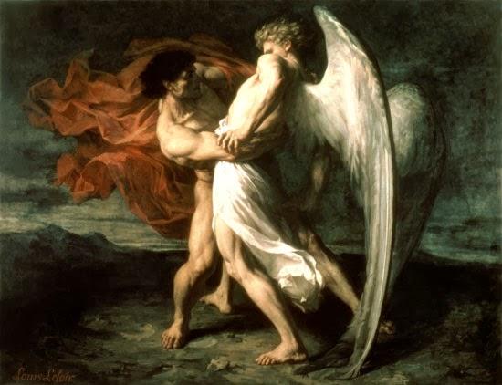 יעקב נאבק במלאך - אלכסנדר לואיס לואר, Jacob wrestled with the Lewis Loire - 1865