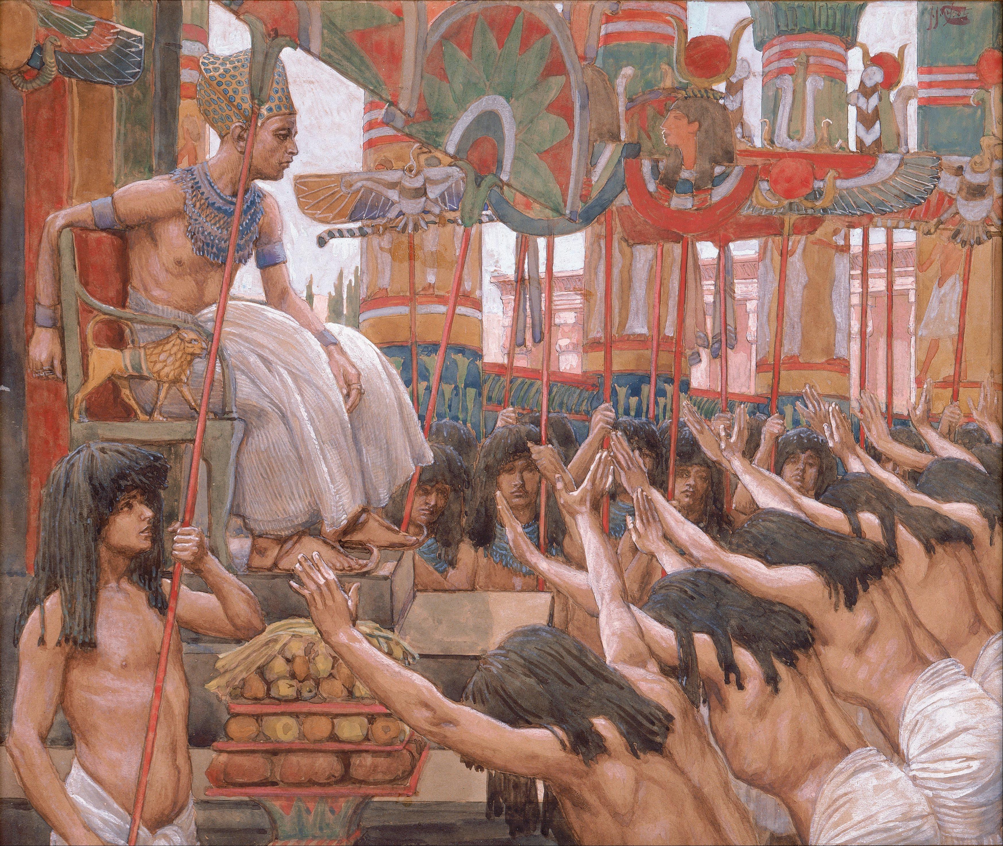 יוסף במצרים. Joseph in Egypt. James Joseph Tissot . 1836 - 1902